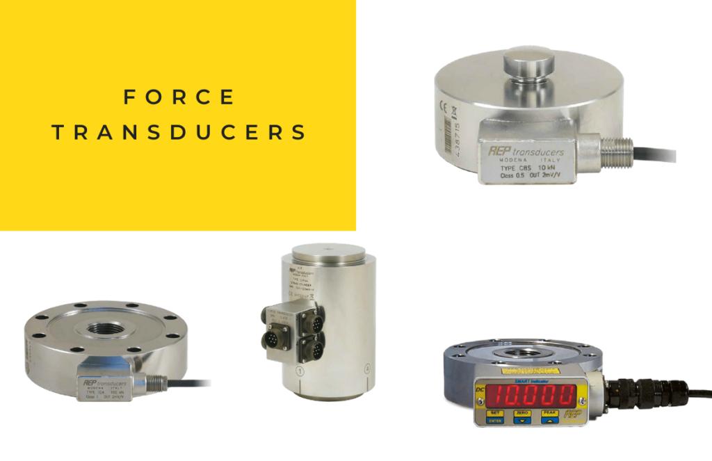 force transducers - piezoelectric sensors - strain gauge sensors